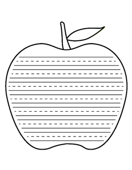 Apple Lined Paper - Primary