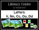 Apple Themed Letter/Sound Center (I,N,C,O,D)