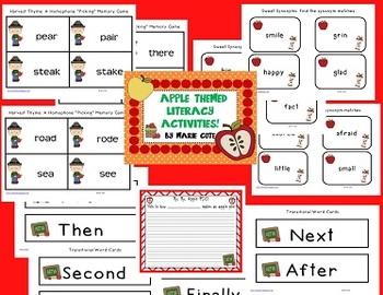 Apple Literacy Mini-Packet!