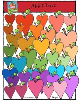 Apple Love {P4 Clips Trioriginals Digital Clip Art}