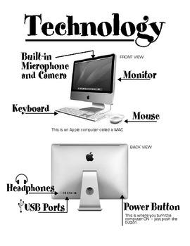 Apple MAC basic parts labeled