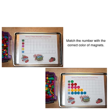 Apple Magnet Counting Sheets