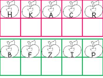 Apple Magnet Letter Activity
