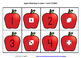 Apple Matching Number Cards FREEBIE