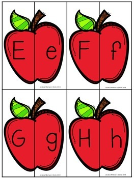 Apple Matching- Uppercase and Lowercase Letter Matching
