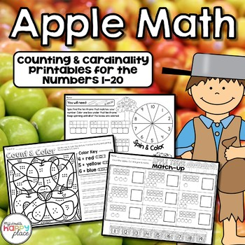 Apple Math: Counting and Cardinality Printables