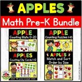 Apple Math Activities Bundle for Preschool