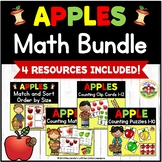 Apple Math Activities Bundle for Preschool