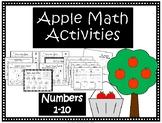 Kindergarten Apple Math Activities- Numbers 0-10