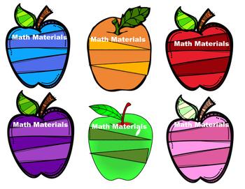 Apple Math Bin Labels