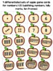 Apple Math Cards & Games (number sense, tally marks, 10 frames, #1-20)