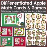 Apple Math Cards & Games (number sense, tally marks, 10 fr