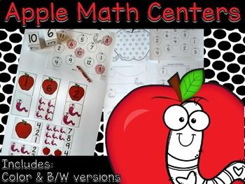 Apple Math Center Activities for Preschool and Kindergarten