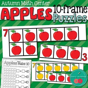 Apple Math Center - Ten Frames Puzzles