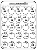 Apple Math Centers Complete the Number Pattern Centers Apple Math Activities