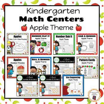 Apple Kindergarten Math Centers BUNDLE