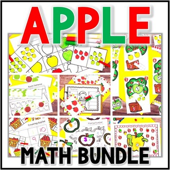 Kindergarten Apple Math Centers- 7 September Math Centers - Johnny Appleseed