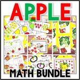 Kindergarten Apple Math Centers- 7 Math Center Bundle - Johnny Appleseed