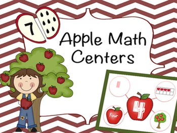Apple Math Centers Numbers 1-10