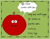 Apple Math Centers With Dice