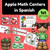 Apple Math Centers in Spanish for 1st Grader (Centros matematicas primero)