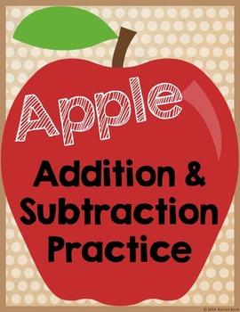 Apple Addition & Subtraction Practice Bundle