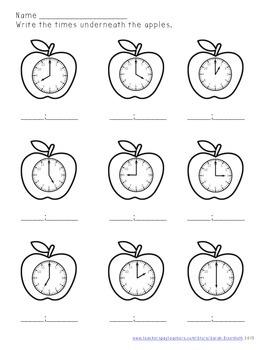 Apple Math - First Grade Skills