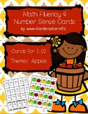 Apple Math Fluency & Number Sense Cards | English | 1-10