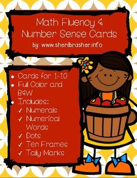 Apple Math Fluency & Number Sense Cards | English | 1-10