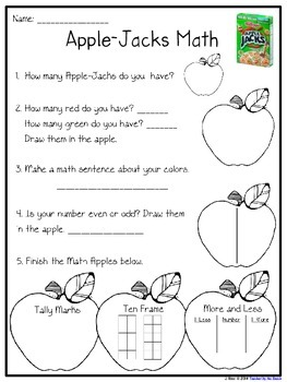 Apple Math Freebie
