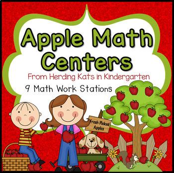 Apple Math Fun Work Stations!