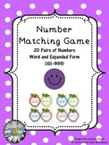 Standard to Expanded Form (hundreds) matching game