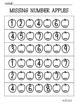 Apple Math:Missing Numbers 0-10