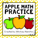 Apple Math Practice {Great for Johnny Appleseed Day!} NO PREP