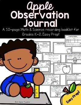 Apple Math Observation Journal for K-2