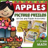 Apple Math Picture Puzzles {1st Grade}