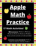 Apple Math Practice - Printable Worksheets - Counting, Comparing, Adding