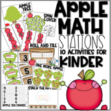 Apple Math Stations for Kinder! {10 Activities}