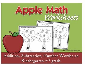 Apple Math Worksheets