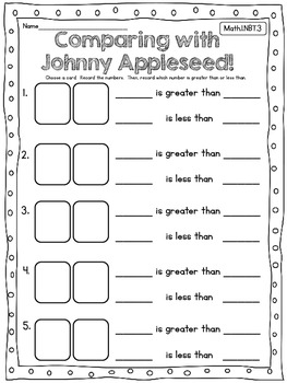 Apple Math and Literacy for First Grade!