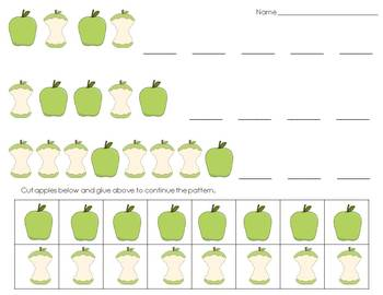 Math and Literacy Centers • Apples