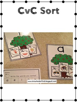 First Grade Centers: Apples