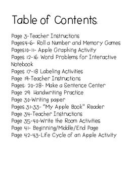 Apple Math and Literacy Unit