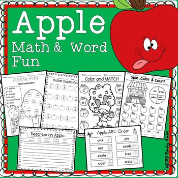 Apple Math and Word Fun First Grade Common Core