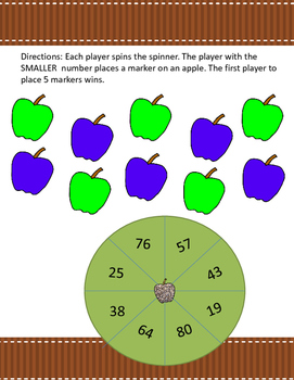 Apple Math games- Number Sense Greater than, Less than