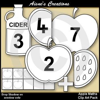 Apple Maths Clip Art