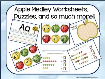 Apple Medley Worksheets & Puzzles