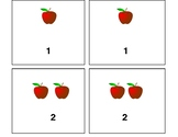 Apple Memory Game; Numbers 1-10