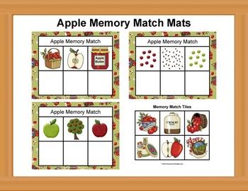 Apple Memory Match Mats