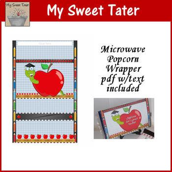Apple Microwave Popcorn Wrapper